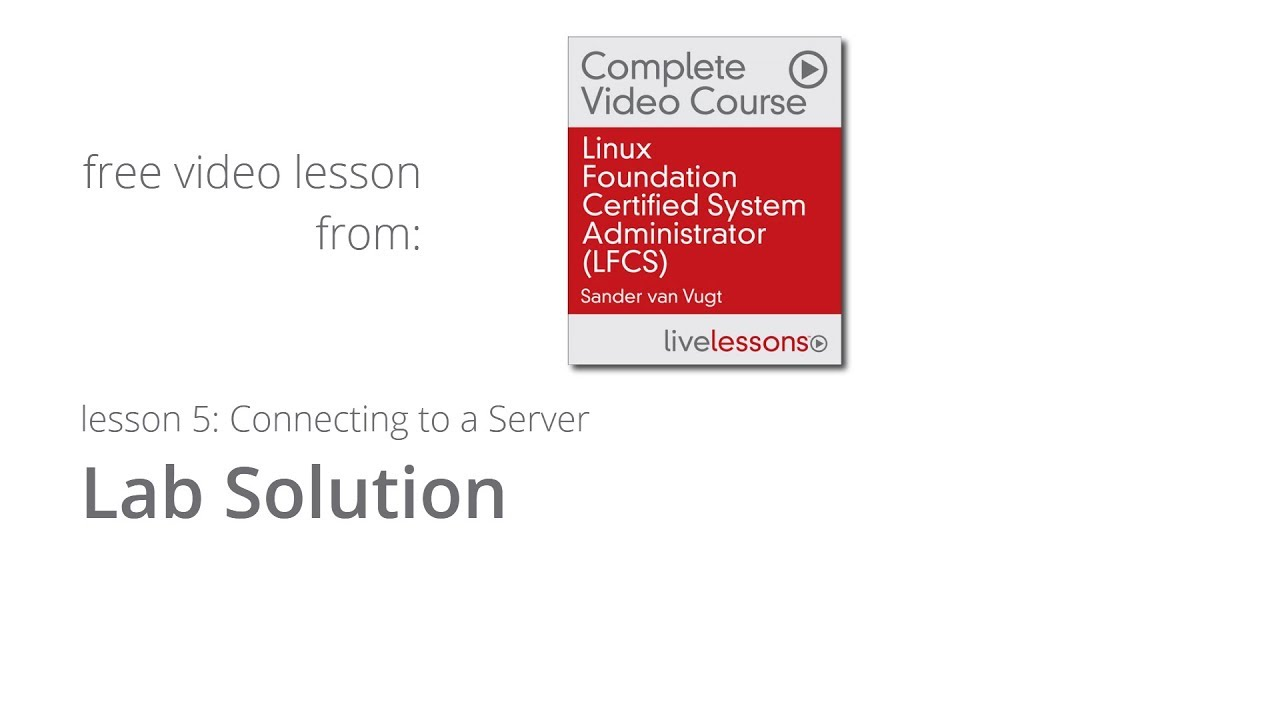 Lab Exercise Solution To Prepare For Linux Foundation Certified