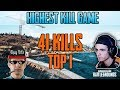HIGHEST KILL GAME - Shroud Just9n 41 KILLS win SQUAD FPP [NA] - PUBG HIGHLIGHTS TOP 1 #45