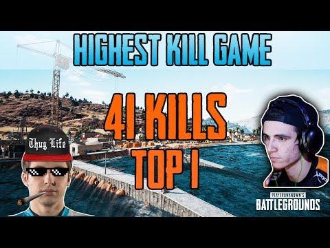 HIGHEST KILL GAME - Shroud Just9n 41 KILLS win SQUAD FPP [NA] - PUBG HIGHLIGHTS TOP 1