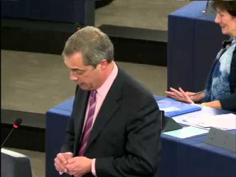 """Nigel Farage ;Mr Junker """"frankly you are as stale and musty as a corked bottle of wine"""""""