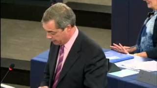 "Nigel Farage ;Mr Junker ""frankly you are as stale and musty as a corked bottle of wine"""