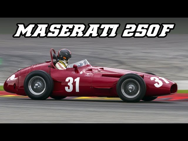 1956 Maserati 250F compilation (Spa & Nürburgring)