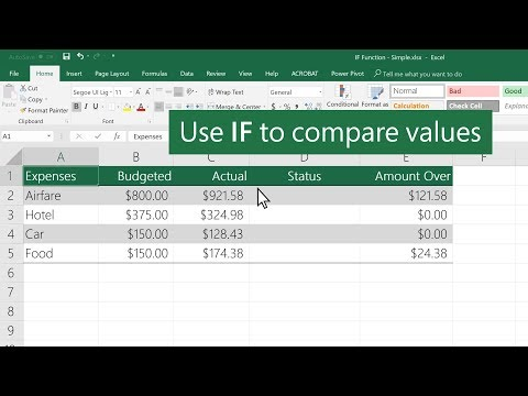 How to use the IF function in Excel thumbnail