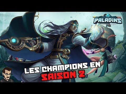 Paladins FR - Les Champions en Saison 2 (Analyse du Patch OB 68)