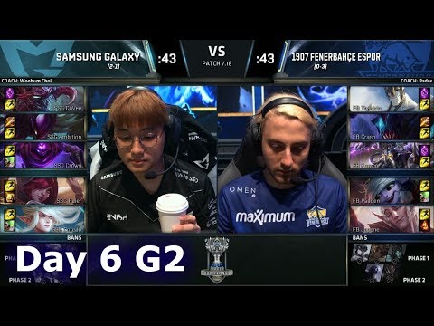 Samsung Galaxy vs 1907 Fenerbahçe | Day 6 Main Group Stage S7 LoL Worlds 2017 | SSG vs FB G2