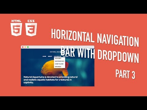 HTML Tutorial - How To Create A Navigation Bar With A Dropdown - Part 3