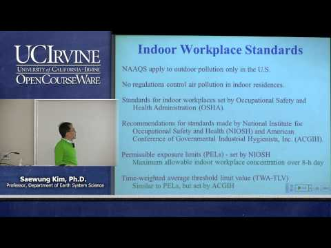 Earth System Science 23. Air Pollution. Lecture 12. Indoor Air Pollution and Acid Rain