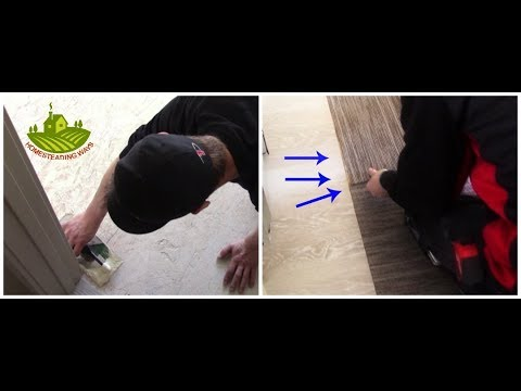 Installing Carpet Tiles/Squares On Wood & Concrete Flooring