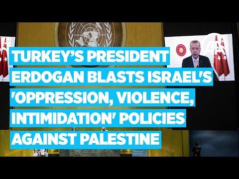 President Erdogan Blasts Israel's Oppression, Violence, Intimidation Policies Against Palestine