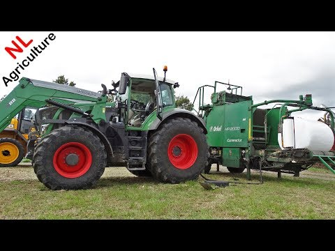 Maisbalen Persen ● Fendt 828 Vario + Orkel MP2000 Compactor ● Baling And Wrapping Maize Silage.
