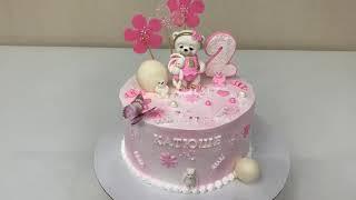 ПРОСТОЕ украшение ДЕТСКОГО Торта Торт для ДЕВОЧКИ Красивый торт