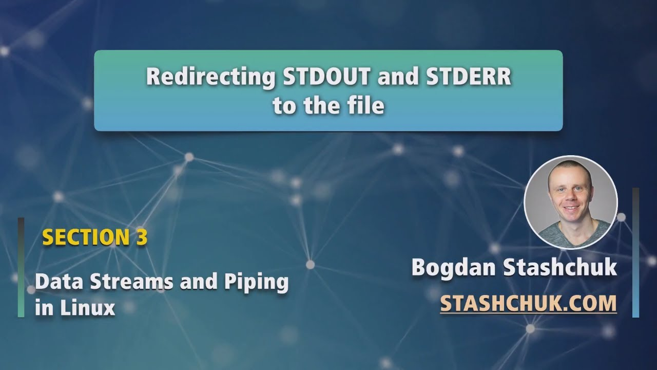 Linux Tutorial 20 Redirecting STDOUT and STDERR to the file