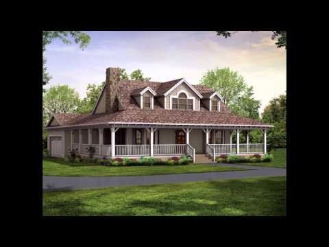wrap around porch house plans YouTube