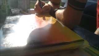 Laptop Spray Painting