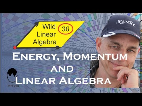 Wild Linear Algebra 36: Energy, momentum and linear algebra