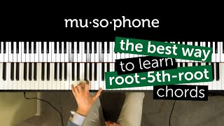 Piano tutorial: Root-5th-root chords Mp3