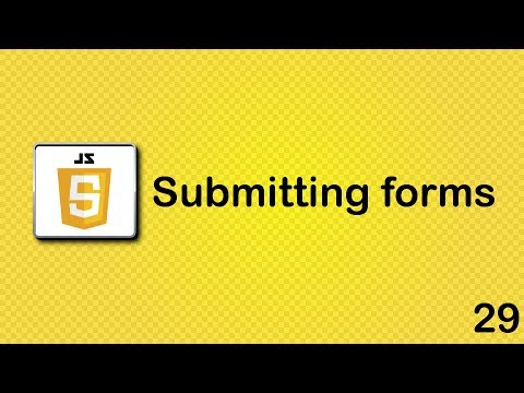 JavaScript beginner tutorial 29 - submitting forms