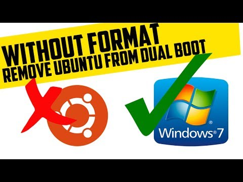 How To Remove Ubuntu From Windows 7 Dual Boot | Without Formatting