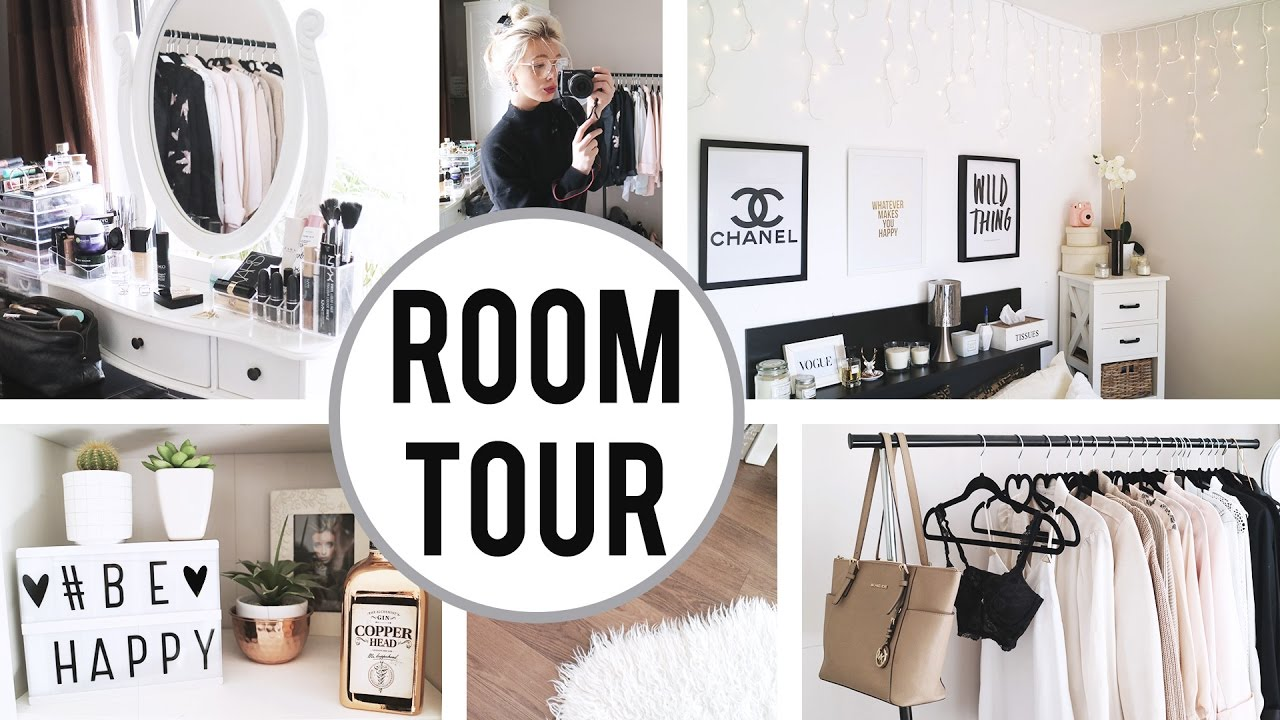 Room tour 2017 some white minimalist room inspo youtube for Minimalist bedroom tour