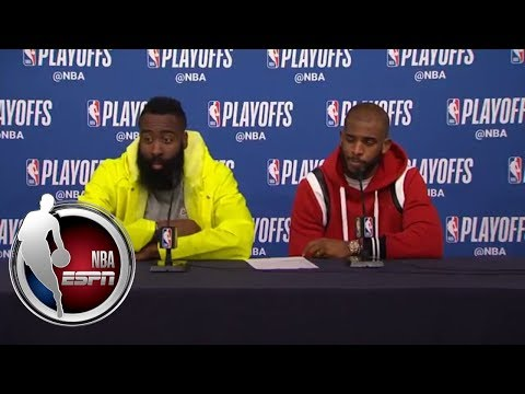 [FULL] James Harden, Chris Paul agree that Rockets have to be better defensively | NBA on ESPN