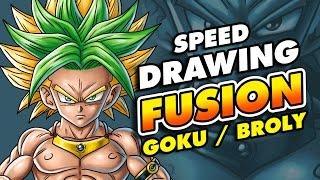 Speed drawing GOKU BROLY FUSION   Dragon Ball fusions