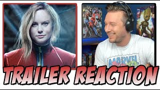 Captain Marvel (2019) - Official Trailer Reaction (Marvel Studios)
