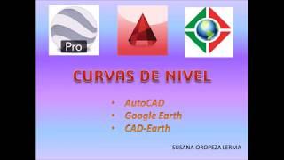 Generar curvas de Nivel con CAD-Earth