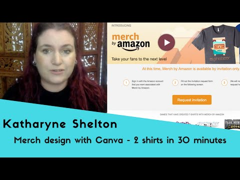 Merch by Amazon T Shirt Design with Canva  - 2 shirts in 30 minutes
