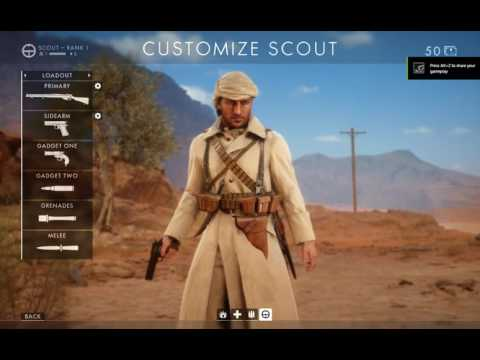 battlefield 1 character customization
