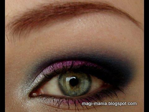 makeup tutorial waikiki smokey eyes in pink blau silber magimania for petrilude youtube. Black Bedroom Furniture Sets. Home Design Ideas