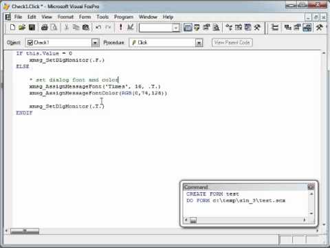 Extending (styling) MessageBox dialog in Visual FoxPro