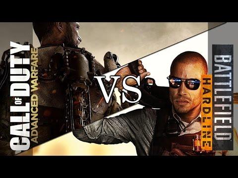 Battlefield Hardline VS Advanced Warfare MODERN FPS SKILLGAP COMPRESSION COD AW Hardline Comparison