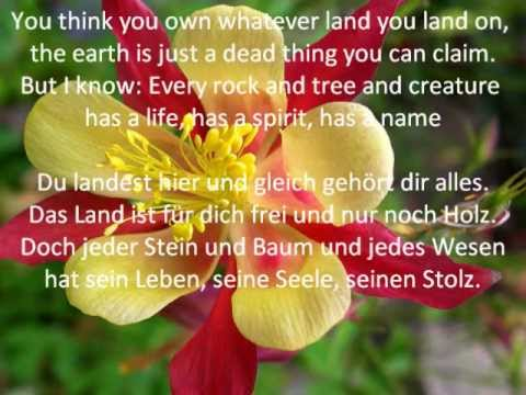 Colours of the Wind (Pocahontas) - karaoke instrumental - original english+german lyrics