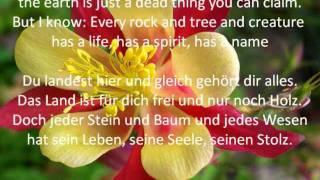 Colours of the Wind (Pocahontas) - karaoke instrumental - original english+german lyrics