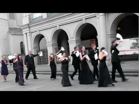 New Orleans Second Line Wedding Parade