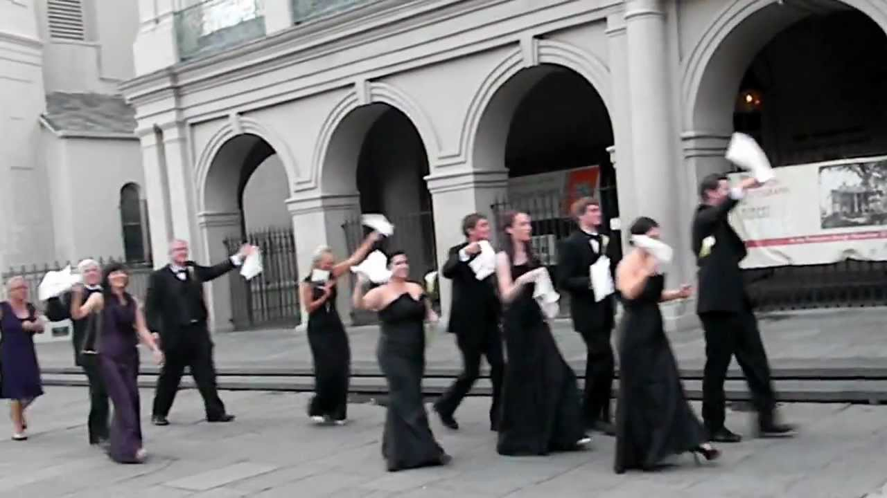 New Orleans Second Line Wedding Parade - YouTube