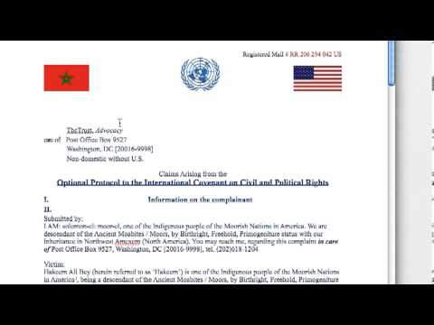 Human Rights Complaint  - Moor vs Individuals under color of United States 2012-11-17