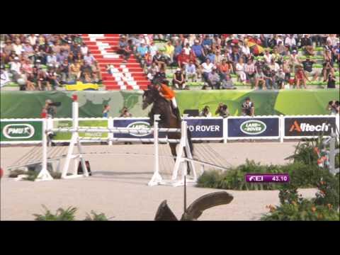JEM 2014 : Le Quatrième Et Dernier Passage De Jeroen Dubbeldam Lors De La Finale à 4