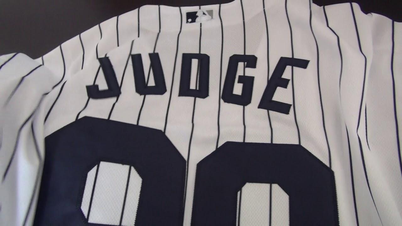 8c40896e7 Men's New York Yankees Aaron Judge Majestic Home White Flex Base Player  Jersey