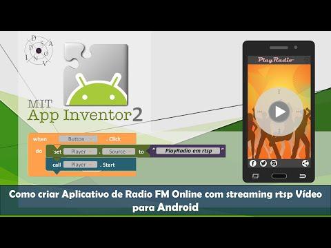 Como criar Aplicativo de Radio FM Online com Streaming rtsp Vídeo para Android - MIT App Inventor 2
