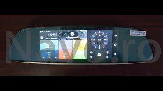 Oglinda cu navigatie GPS, internet 3G, dual DVR Navo C12 4G review