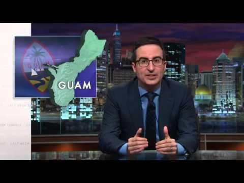 John Oliver trolls GUAM hard BATMAN PUNCH (HBO)