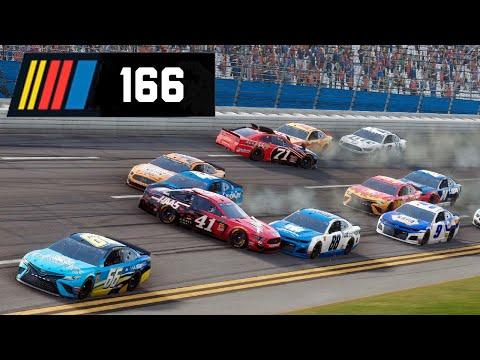 WILD TALLADEGA RACE WITH LAST LAP CRASH! - NASCAR Heat 4 Career Mode #166 |
