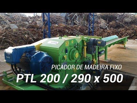 Picando Material Contaminado com pregos PTL 200/290x500