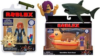 Roblox Toys SharkBite Duck Boat & Surfer, Code Items, Unboxing & Toy Review