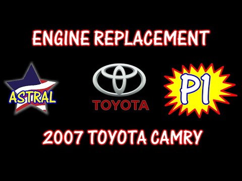 ⭐ 2007 Toyota Camry - 2.4 - Engine Replacement WITHOUT Removing Transmission - PART 1