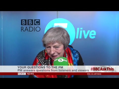 LIVE: Theresa May on BBC Radio 5 live and the BBC News Chann