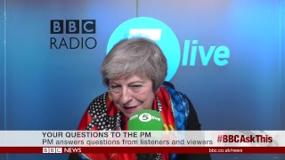 LIVE: Theresa May on BBC Radio 5 live and the BBC News Channel