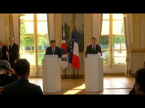 South Korean, French Presidents meet during state visit