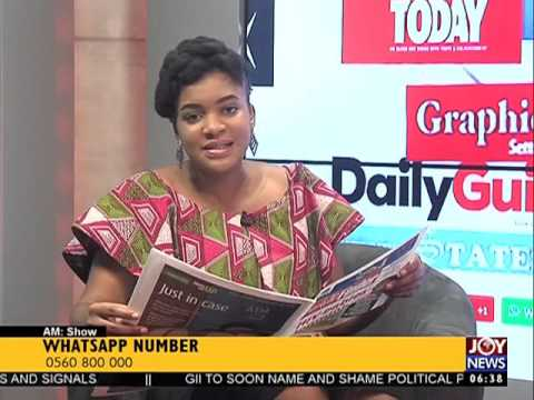 Today's Headlines - AM Show on Joy News (16-9-16)